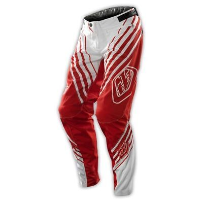 NEW TROY LEE DESIGNS Sprint Youth Pants White Red BMX MTB Kids TLD Lightweight