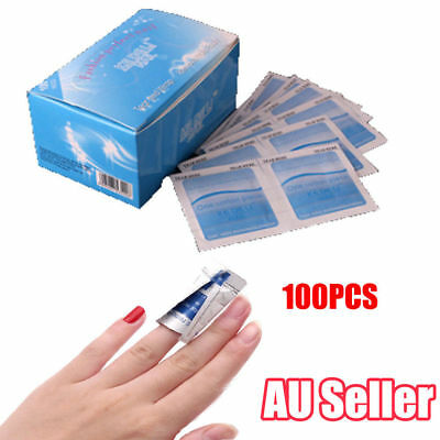 100Pcs Gel Polish Remover UV Soak Off AcetoneRemoval Wraps Nail Art Cleaner  SN