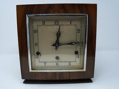 Vintage Perivale  Westminster Chiming Square Mantle Clock Spares Repairs*