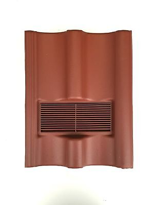 Roof Tile Vent To Fit Marley Mendip, Redland Grovebury, Double Pantile | Red