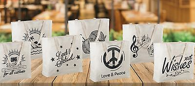 357c77124d7 Reusable Canvas Bag with Printed Theme - Sturdy Shoulder Straps - Made in  USA