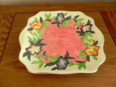 "Vintage Maling ""Godetia"" Square Cake Plate 6552"