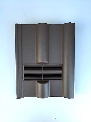 Roof Tile Vent To Fit Marley Redland 50 Double Roman | Brown Smooth | 8 Colours