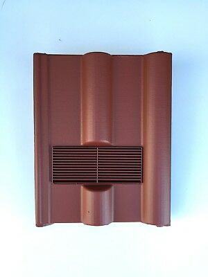 Roof Tile Vent To Fit Marley, Redland 50 Double Roman | Red Smooth | 8 Colours