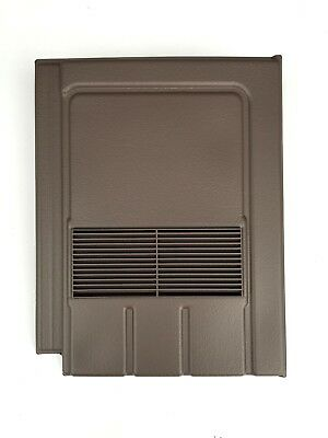 Roof Tile Vent To Fit Marley Edgemere Lagan Galloway | Brown Smooth | 8 Colours