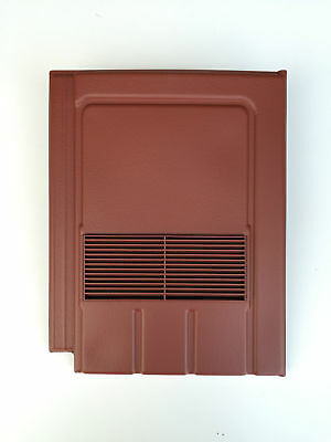 Roof Tile Vent To Fit Marley Edgemere, Lagan Galloway | Red Smooth | 8 Colours