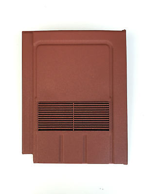 Roof Tile Vent To Fit Marley Edgemere, Lagan Galloway | Red Granular | 8 Colours