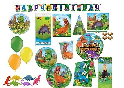 DINOSAUR Birthday Party Range Kids Tableware Jurassic Decorations Dinosaurs