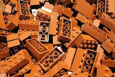 50 x LEGO® Brick / Steine 2x4 ( 3001 ) in Neu Braun / reddish brown NEU