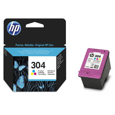Original HP 304 Colour Ink Cartridge For DeskJet 2620 Inkjet Printers