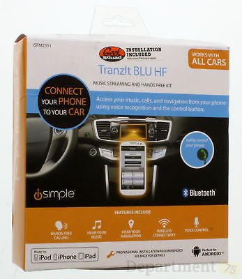 iSimple Tranzlt BLU HF Music Streaming & Hands Free Kit For Apple (IFM2351)