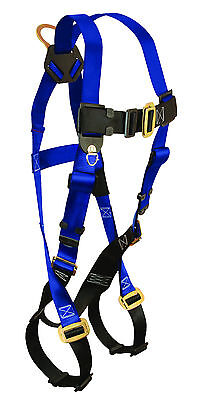 FallTech Safety Harness, 7015, 1 D-Ring Back; Legs & Chest Buckle; UniFit, 1 ea