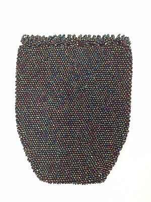 Antique Victorian Micro Beaded Pouch/ Purse Handmade Drawstring Reticule