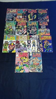 Judge Dredd/Judge Anderson Eagle Comic's/Quality Comic's x 14 Vintage 1980's