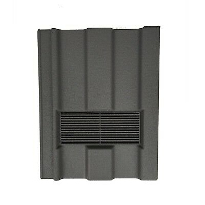 Roof Tile Vent To Fit Marley Ludlow Major | Grey Granular | Flexi Pipe Adaptor