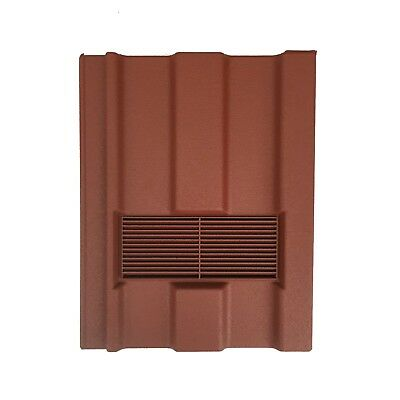 Roof Tile Vent To Fit Marley Ludlow Major | Red Granular | Flexi Pipe Adaptor