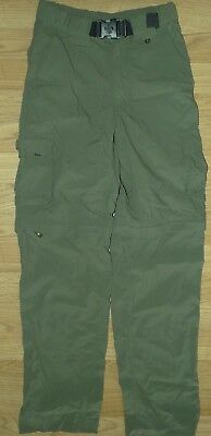 NWOT Boy Scouts Of America BSA Green Convertible Uniform Pants Size Youth Large