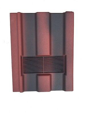 Roof Tile Vent To Fit Marley Ludlow Major | Old English Red | 10 Colours