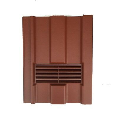 Roof Tile Vent To Fit Marley Ludlow Major | Red Smooth | 10 Colours Available
