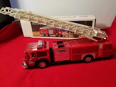 Hess Toy Fire Truck Bank (complete in original box) - Works great!