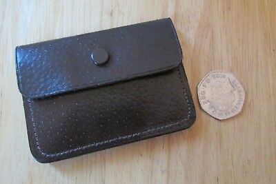 small vintage brown leather coin purse