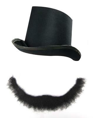 c39f9ce48ad803 Adults Fancy Dress Set Abraham Lincoln Beard and Top Hat Black President USA