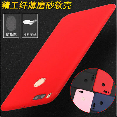 For Xiaomi Mi A1/5X Matte Slim Soft Full Cover Shockproof Silicone Case