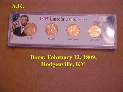 Abraham Lincoln's Birth  February 12, 1809, Hodgenville, KY  (stocking stuffers)