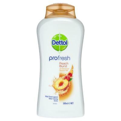 Dettol ProFresh Shower Gel Peach Burst 500ml