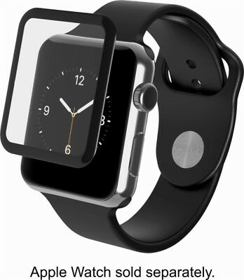 Zagg shield Glass Luxe HD Clarity Black Finish For Apple watch Series 2 42mm