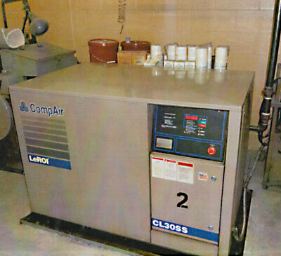 CompAir LeROI CL 30 SS Rotary Screw Air Compressor- 30 HP, 1998