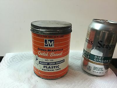 Dutch Brand Electrical Cardboard Tape Container Johns Manville no.120 Mint