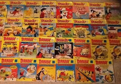 Job Lot Of 31 Dandy Books - 20 Comic Library & 11 Comic Library Special Cartoon
