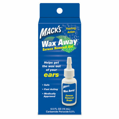Mack's Wax Away Earwax Removal Aid Drops Foaming Action Fast Acting