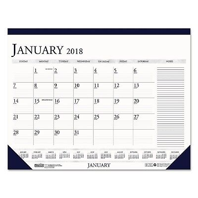 2018 Monthly Desk Calendar W/Large Notes Section 18 1/2X13 House Of Doolittle