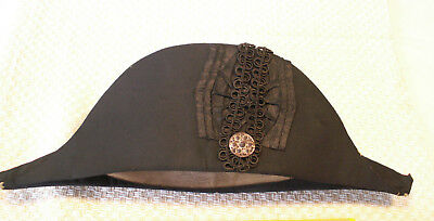 C 1830's Royal Navy Bicorn Hat. Kirsop & Sons Glasgow. Nice Original Condition.