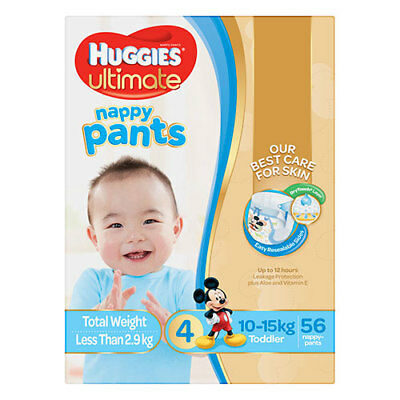 NEW Huggies Ultimate Toddler Nappy Pants for Boys - 56 Pack
