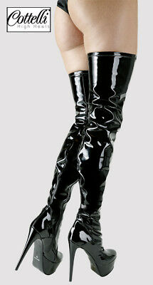 Black Over knee Boots Domenica by Cottelli Collection High Heels size UK 4 - 11