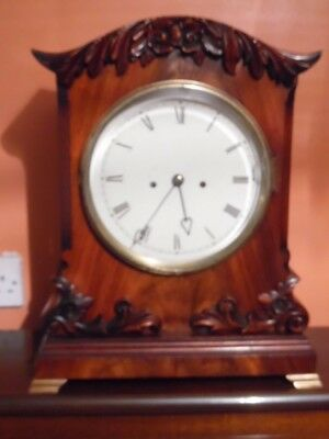 victorian large twin fusee bracket clock