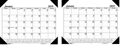 2018 - House of Doolittle Workstation Size Monthly Desk Pad Calendar 18 1/2x13