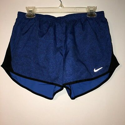 Womens Nike Dri Fit Tempo Running Shorts Blue Black Size Medium
