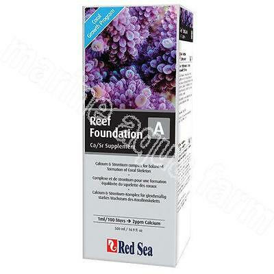 RED SEA REEF FOUNDATION A CALCIUM & STRONTIUM 500ml, ADDITIVE, MARINE, CORAL,