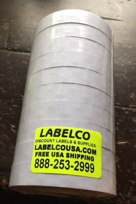 15,000 White  Labels for 1115 Monarch 10 rolls *INCLUDES 1 INKER* USA MADE