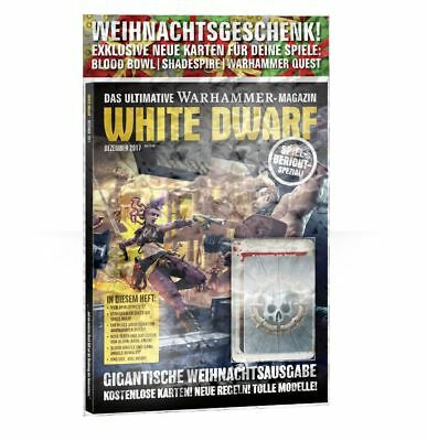 White Dwarf 16 Dezember 2017 (Deutsch) Extra Karten Blood Bowl Shadespire GW