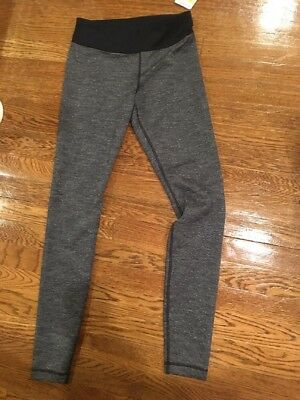 Womens Under Armour Coldgear Fitted Compression Leggings Pants Size S Gray