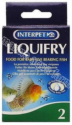 INTERPET LIQUIFRY No 2, BABY LIVE BEARER FISH. FRY BREEDING, AQUARIUM, TROPICAL
