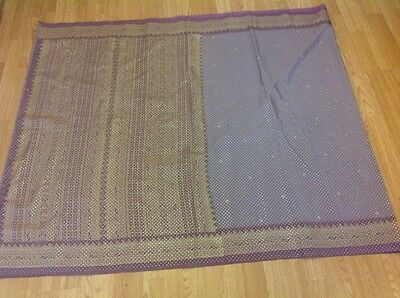Ladies Indian Bollywood purple lilac gold and silver saree excellent condition