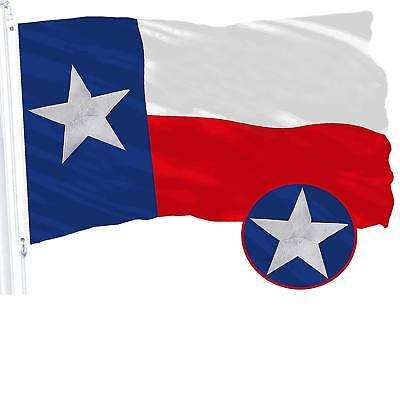 G128 – Texas State Flag US USA | 3x5 ft | Embroidered 210D - Brass Grommets
