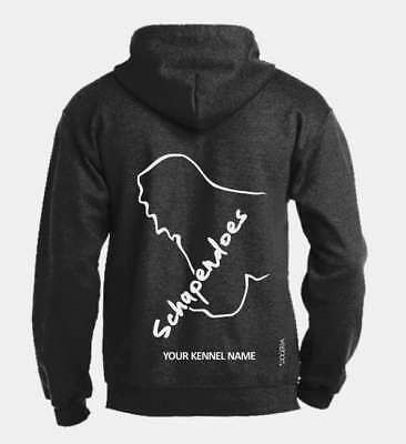 Shapendoes Full Zipped Dog Breed Hoodie, Exclusive Dogeria Design,