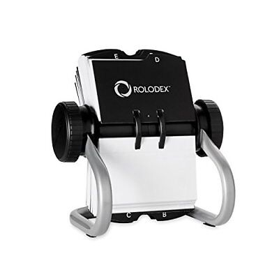 Rolodex Open Rotary Business Card File with 200 2-5/8 by 4 inch Card Sleev..